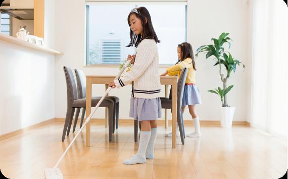 【プログラム例】リビング掃除業務